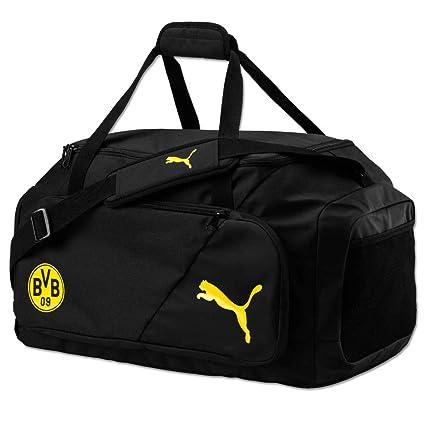 b27eae3d36577 PUMA BVB Liga M Bag Tasche Black-Cyber Yellow