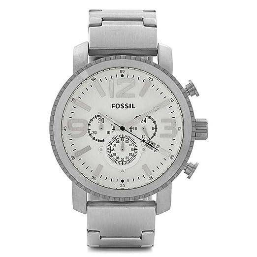 97aae468530d Reloj hombre FOSSIL bq1653 acero inoxidable plata cronógrafo  Amazon.es   Relojes