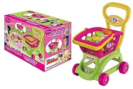 Niños Carrito de la compra y cesta papel jugar juguete plástico frutas Alimentos utensilios mercado