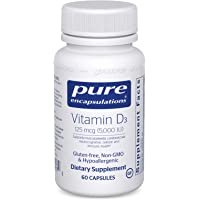 Pure Encapsulations Vitamin D3 125 mcg (5,000 IU) | Supplement to Support Bone, Joint, Breast, Prostate, Heart, Colon…