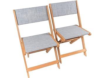 Klappstuhl Aus Exotischem Holz Seoul Maple Grau 2er Set