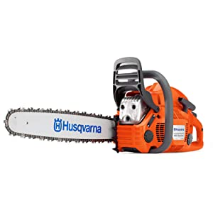 "Husqvarna Forest & Garden 966048324 Husqvarna 24 Inch 460 Rancher Gas Chainsaw with 2 Cycle Oil, 24"" Bar Length, Orange"