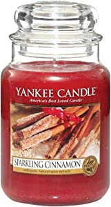 Yankee Candle Large Jar Scented Candle, Sparkling Cinnamon, Up to 150 Hours Burn Time