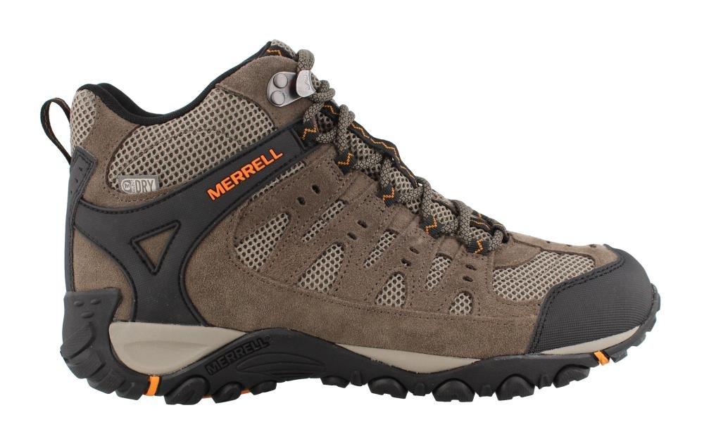 Merrell Men's Accentor Mid Vent Waterproof Hiking Boot, Boulder/Orange Peel, 9 M US