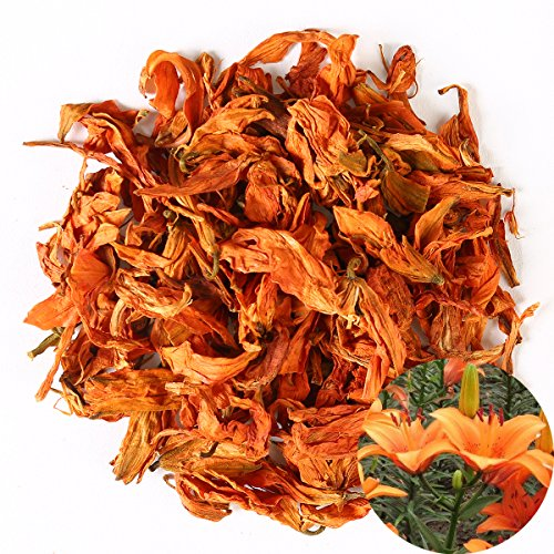 4 Ounce Lily - TooGet Fragrant Natural Lily Flowers Organic Dried Lilium Flowers Wholesale, Top Grade - 4 OZ
