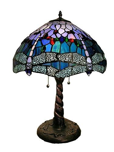 Amazon.com: Almacén de Tiffany wht008 tiffany-style lámpara ...