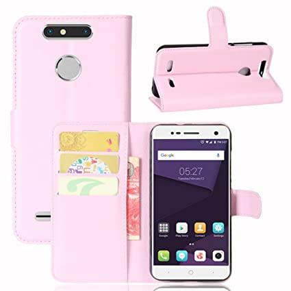 wholesale dealer 6e10f 68396 Amazon.com: Happon ZTE Blade V8 Mini Case, Pouches Leather Case ...