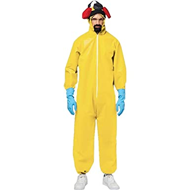 70f14fef8609 Amazon.com  Men s Breaking Bad Toxic Walter White Jumpsuit Hazmat Suit  Adult Costume  Clothing