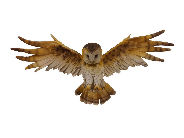Eule Wanddeko Schleiereule Kauz Skulptur Deko Artikel Tier Vogel Figur Wandbild