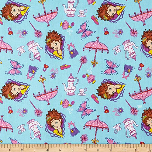 Springs Creative Products Disney Fancy Nancy Things Fabric, Blue, Fabric By The Yard