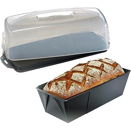 Alpfa Fisko Back Service Contenedor de tartas + molde para pan Molde Rectangular extensible