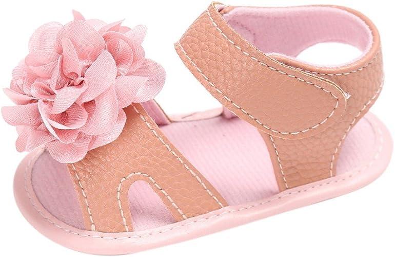 Kleinkind Baby Kinder Mädchen Bowknot Prinzessin weiche Sohlen Krippe Schuhe DE