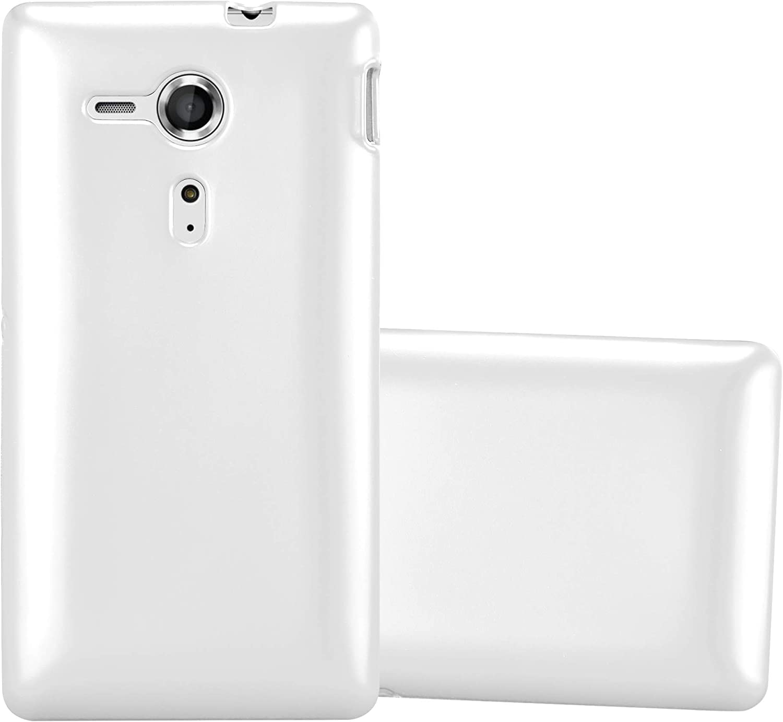 Cadorabo H/ülle f/ür Sony Xperia SP Handyh/ülle aus TPU Silikon im Matt Metallic Design Silikonh/ülle Schutzh/ülle Ultra Slim Soft Back Cover Case Bumper H/ülle in METALLIC BLAU