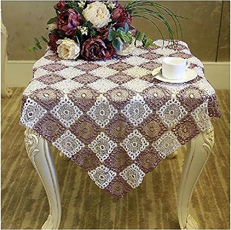 Fadfay Moda Stile Europeo Plaid Crochet Tovaglia Tovaglia Pizzo All