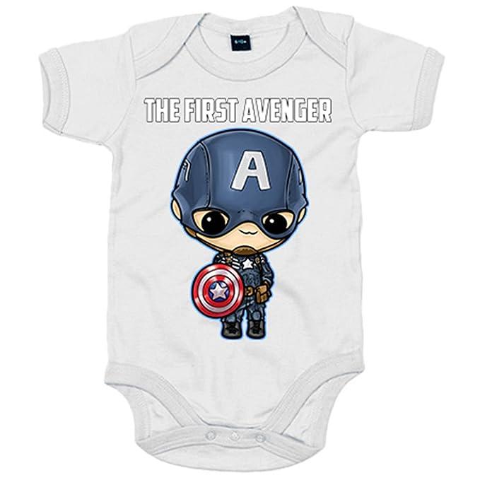 Body bebé Capitán América El Primer Vengador Kawaii - Azul ...