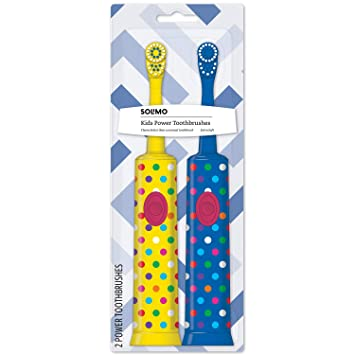 Amazon.com: Amazon Brand – Cepillo de dientes Solimo Kids a ...
