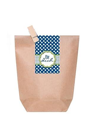 10 pequeñas bolsas de regalo con madera marrón - Pinza y ...