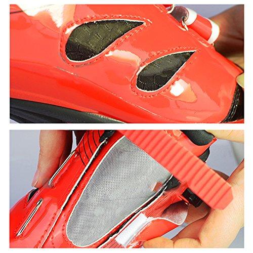 Fastar zapatillas de deporte de ciclismo MTB para hombre - Zapatos respirables ligeros elegantes del montar a caballo Nuevo -Rojo