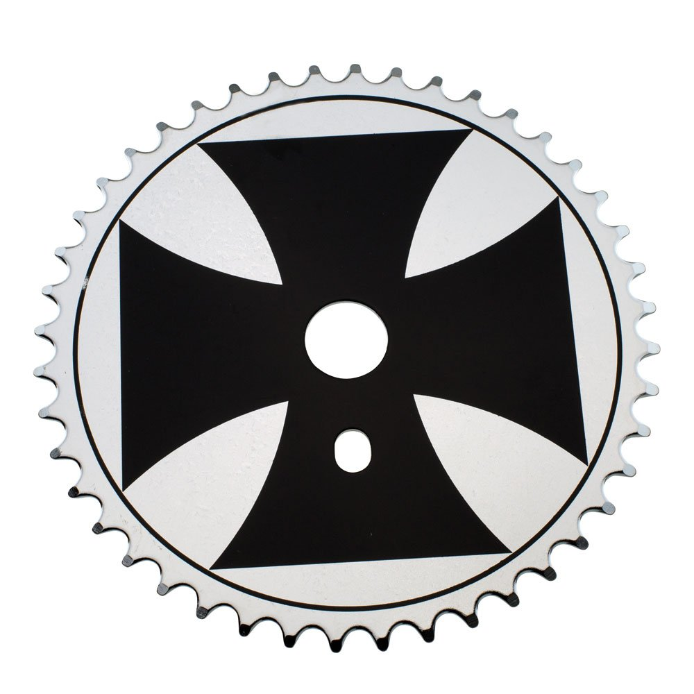 Fenix Cross Bike Sprocket/Chainring, 44T 1/2 X 1/8, Various Colors (Black/Chrome)