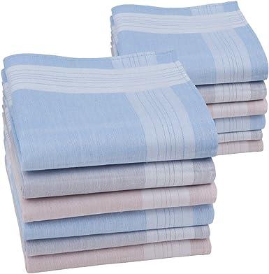 HOULIFE - Pañuelos para hombre, 100% algodón, diseño de rayas ...