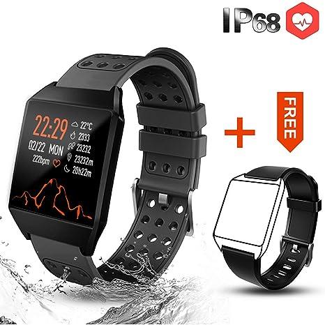 CatShin Pulsera Actividad Hombre CS04 Reloj Inteligente Mujer Niños Impermeable IP68 Reloj Deportivo con Pulsómetro Monitor