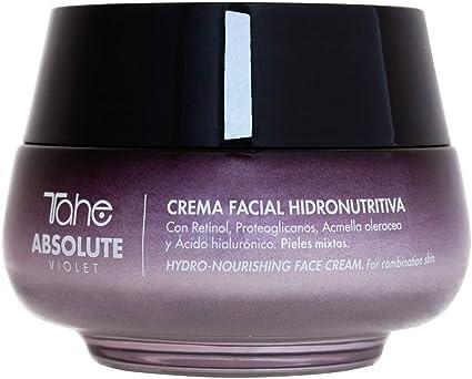 Tahe Absolute Violet Crema Facial Hidronutritiva Anti-arrugas para combatir Manchas Flacidez y Falta de Firmeza con Retinol y Ácido Hialurónico para Pieles Mixtas, 50 ml: Amazon.es: Belleza