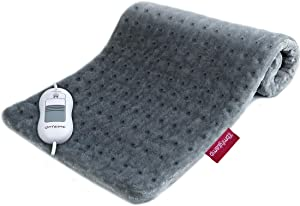 """Heating Pad, Comfytemp XL (12""""x24"""") Electric Heat Pad for Pain Relief, Soft Flannel Heated Compress with Auto Shut Off, 3 Heat Settings, Moist Heat for Cramps, Back, Neck, Shoulders - Machine Washable"""