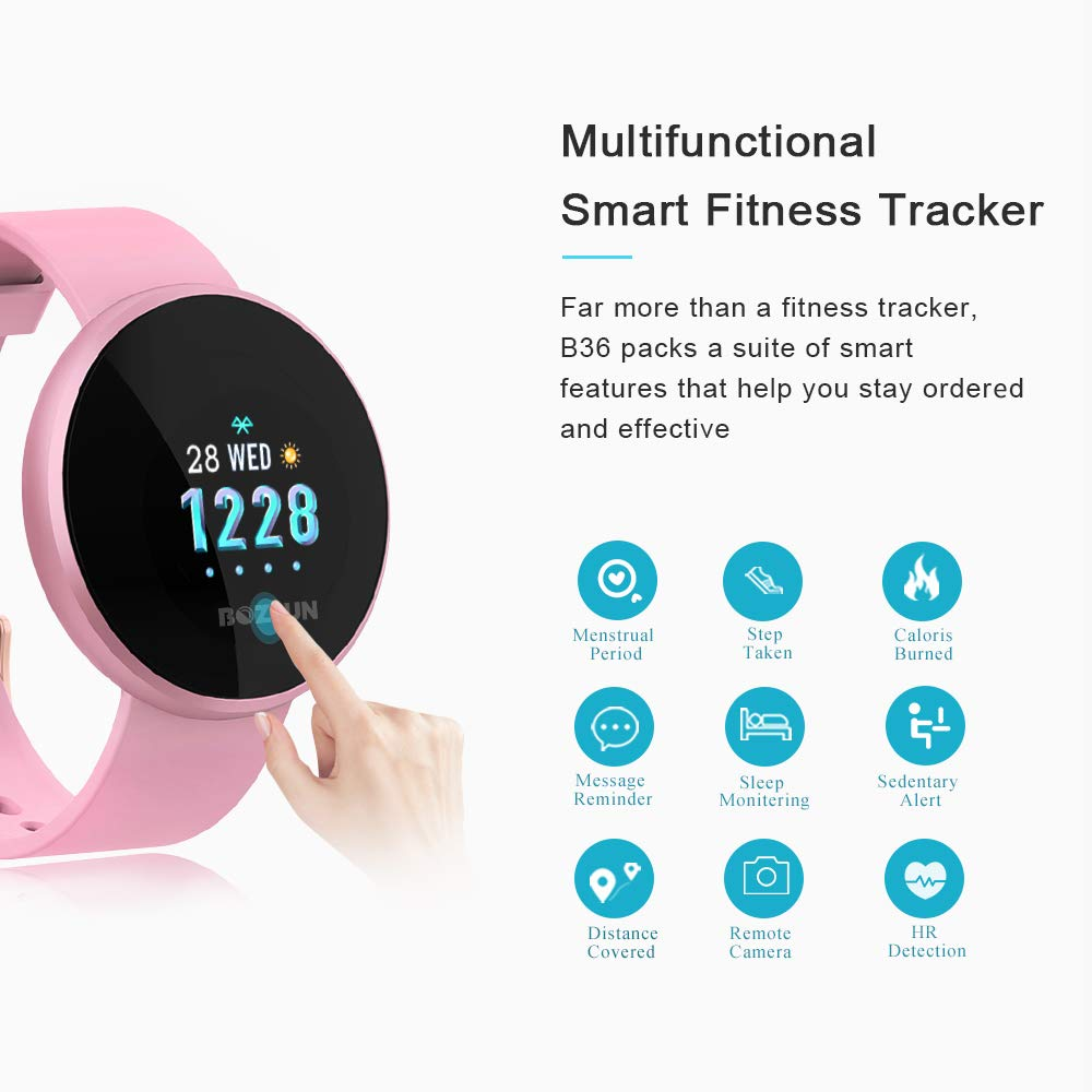 Amazon.com: BOZLUN Smart Watch for Android Phones and iPhones, Waterproof Smartwatch Activity Fitness Tracker with Heart Rate Monitor Sleep Tracker Step ...