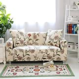 "Hotniu Printed Sofa Slipcovers for 3 Cushion Couch Elastic Sectional 2 Seat Covers for Armchair and Loveseat(Chair for 35""-55"", Pattern #10)"