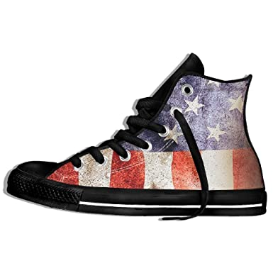 7d058fdec4d83 Amazon.com: Vintage American Flag High Top Sneaker Canvas Shoes Boys ...