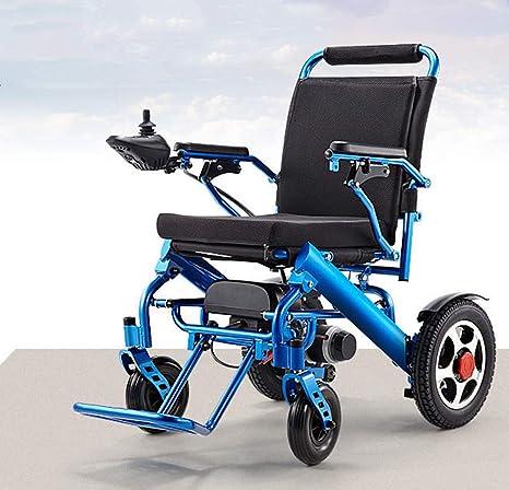 Amazon.com: DDPP Silla de ruedas eléctrica plegable, ligera ...