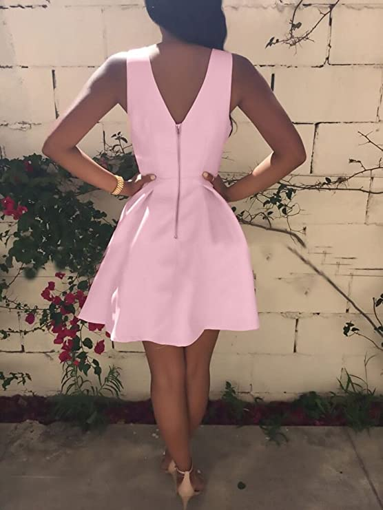 UYSDF Damen /Ärmellos Bodycon Abend Party Mini Kleid 2019