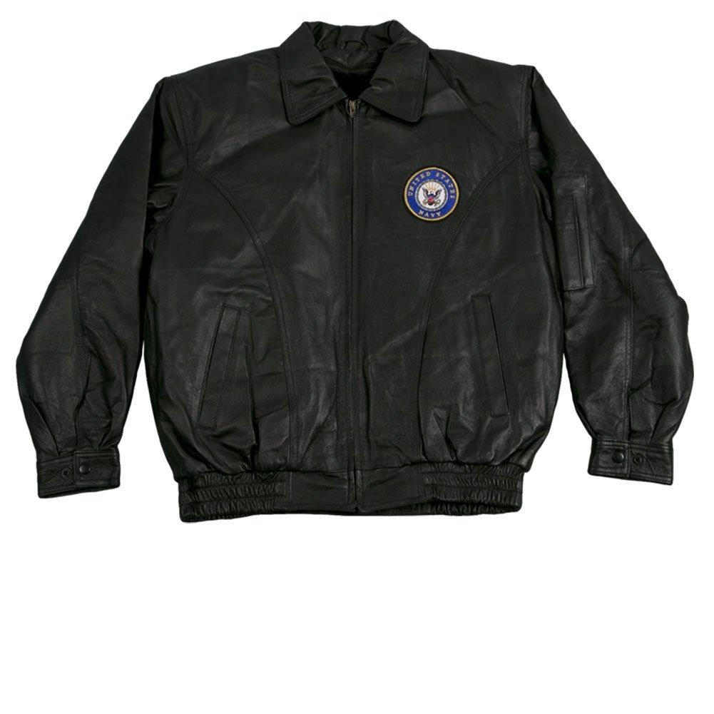 Amazon.com  JWM Men s Leather Jacket US Navy  Clothing e18d3d76883b