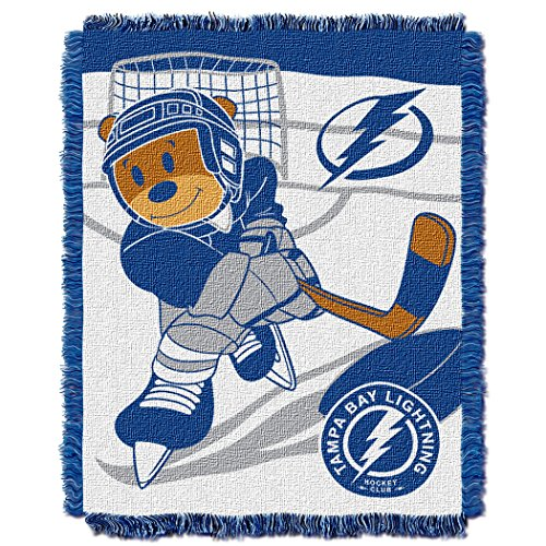 The Northwest Company Officially Licensed NHL Tampa Bay Lightning Score Woven Jacquard Baby Throw Blanket, 36