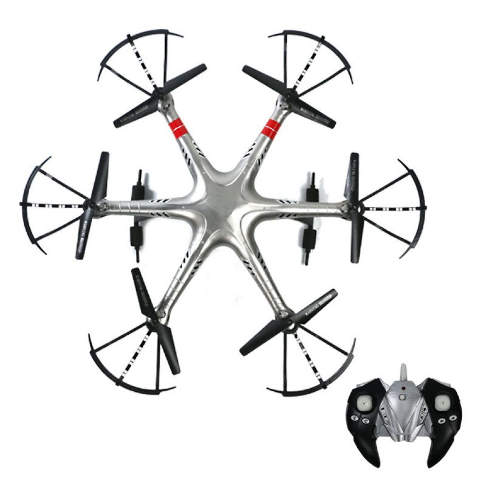Drohne Mit HD-Kamera 2.4Ghz 6-Achsen-Gyro Quadcopter 4CH Fernbedienung Hubschrauber One-Button Take Off Landung One-Button 360 ° Flip Drohne Höhe Halten Steady Super Easy Fly Für Das Training