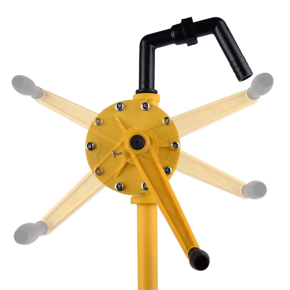 TRUPOW Plastic Polypropylene Hand Rotary Transfer Drum Barrel Pump RP90P