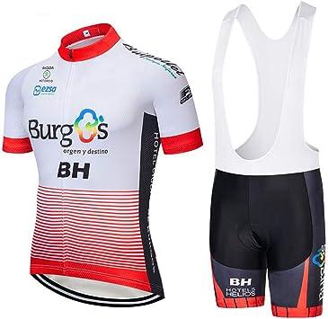 Conjunto Maillot Ciclismo Hombre Manga Corta con Acolchado para Bicicleta de Ropa Enduro MTB + Pantalones Cortos Secado Rápido Ciclismo Ropa Verano: Amazon.es: Deportes y aire libre