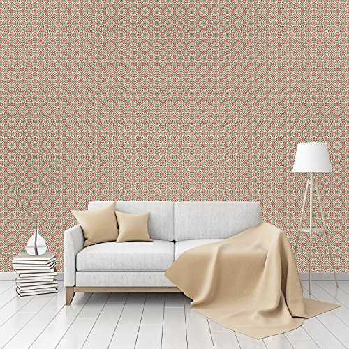 Floralis Retro Patterned Peel & Stick Smooth Wallpaper by (Retro 80s Wallpaper)