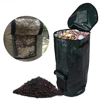 Bolsa de compost de jardín,reciclaje orgánico de residuos de almacenamiento de hojarasca de bolsa de compost de fermento: Amazon.es: Hogar