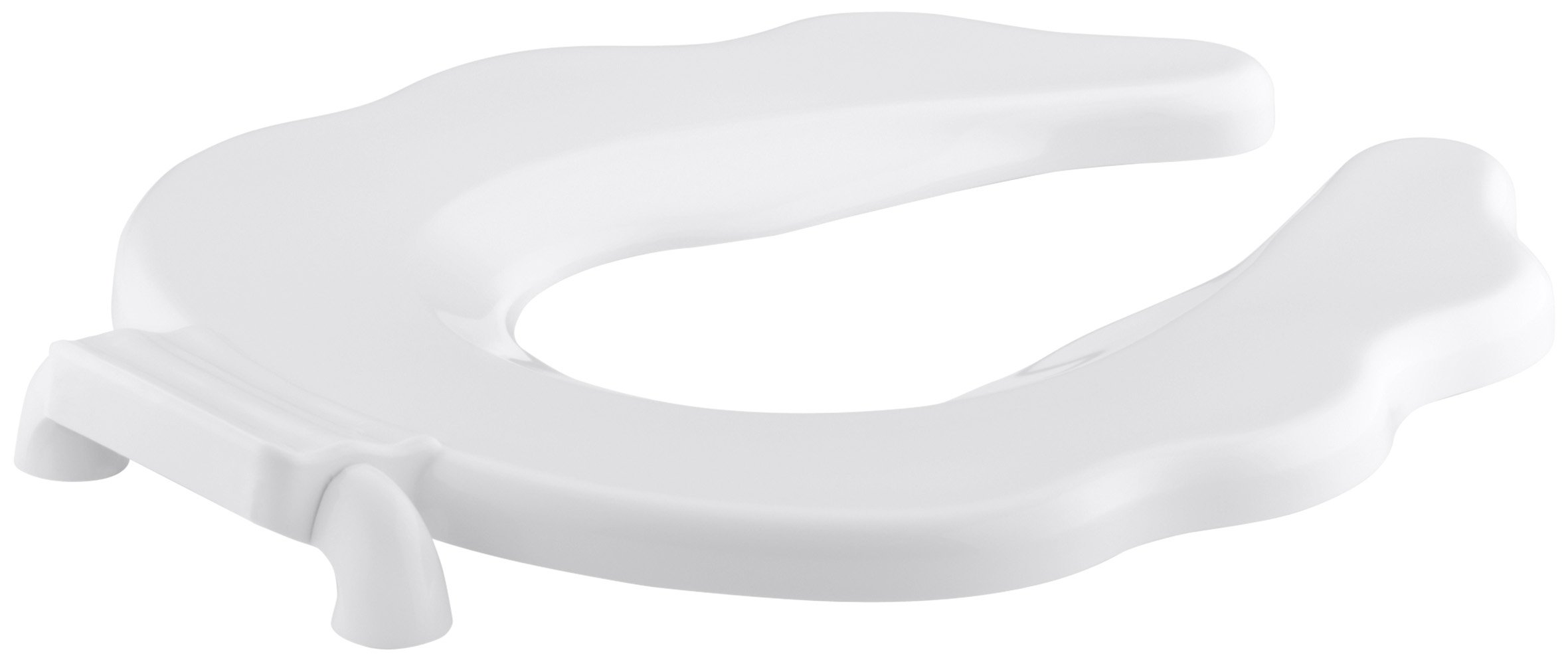 KOHLER K-4686-A-0 Primary Round Open-Front Toilet Seat with Antimicrobial Agent, White