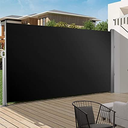 Grey Polyester Outdoor Retractable Sun /& Weather Shade Roller for the Patio