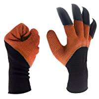 Garden Genie Gloves- Waterproof Genie Gloves with Fingertips Claws on Each Hand, Easy to Dig and Plant for Men and Women and Safe for Pruning, 1 Pair