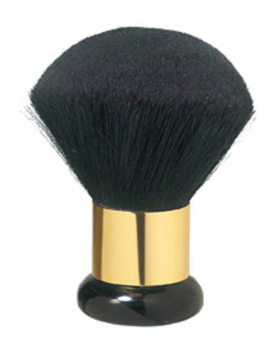 Comair 3020009Cuello plumero Jumbo pelo de cabra Oro Ring, 175x 60mm, color negro