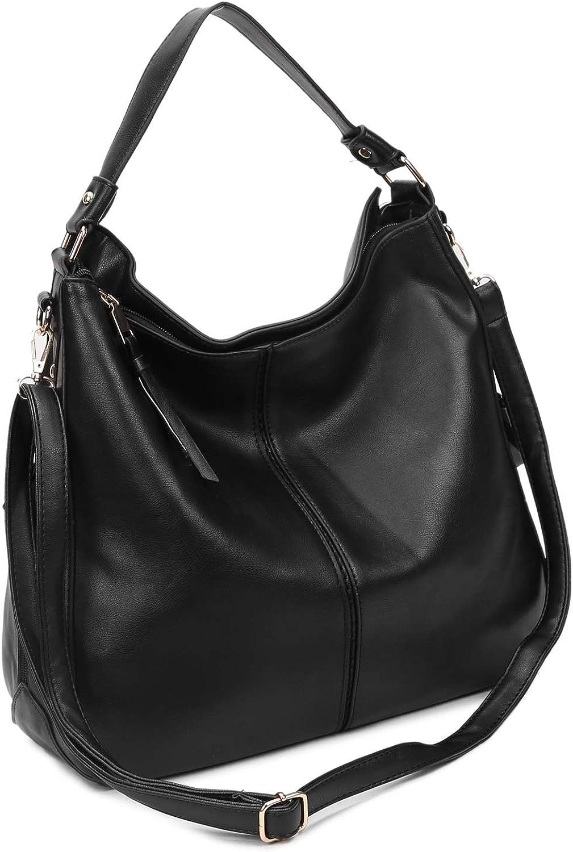 Women Tote Bag Purse Handbag PU Leather Fashion Bucket Bag Hobo Shoulder Bag with Adjustable Strap