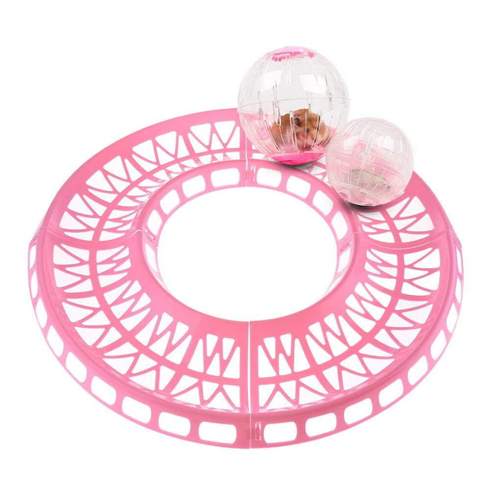 Decdeal 6pcs Hamster Exercise Runway Running Toy Ball Track Rolling Plastic Track for Hamster Mouse Small Pets