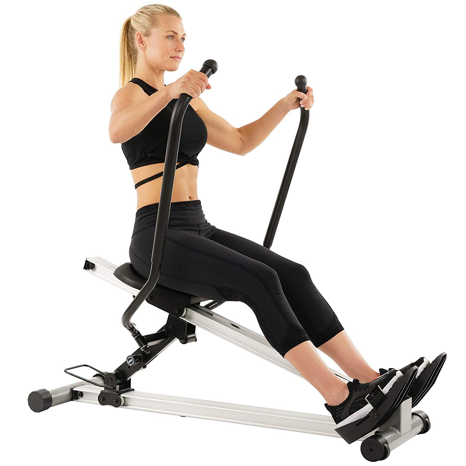 Sunny Health & Fitness Incline Full Motion Rowing Machine Rower with 350 lb Weight Capacity and LCD Monitor by Sunny Health & Fitness (Image #1)