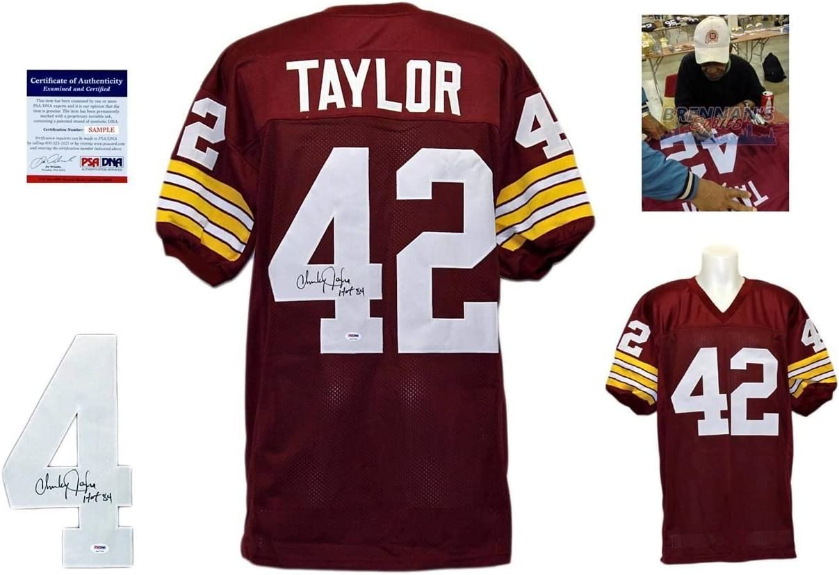 Charley Taylor Signed Custom Jersey - PSA/DNA - Autographed w ...