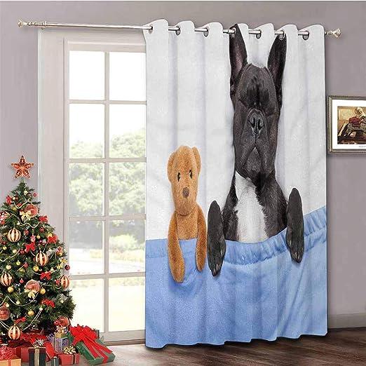 HouseLook - Cortina para Puerta corredera de Patio, diseño de Bosque frío Europeo de Lynx, Color marrón pálido y Blanco: Amazon.es: Hogar
