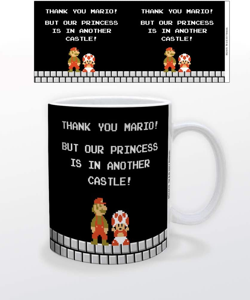 Amazon Com Super Mario Bros Nes Thank You But Our Princess Is In