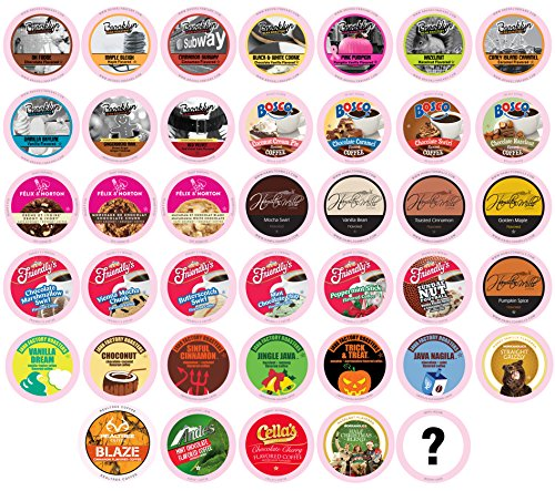 Two Rivers Flavored Sampler Pack Single-Cup Coffee for Keurig K-Cup Brewers, 40 Count